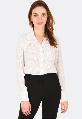 FORCAST white Alaia Button Up Shirt D17E4AA878CFEDGS_1