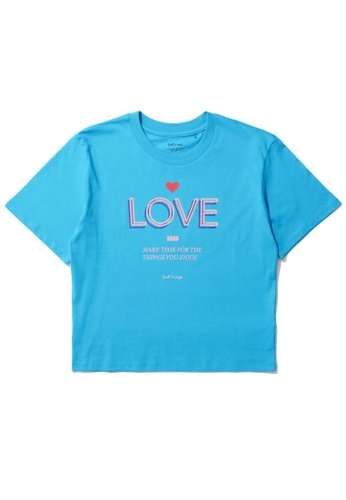 "tout à coup blue ""Love"" print tee C9C8FAADA7BE1FGS_1"