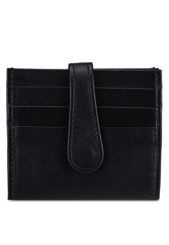 Miajee's black Slim foldable card holders 14 slots leather handcrafted - Black 0CEC6AC3F493FBGS_1