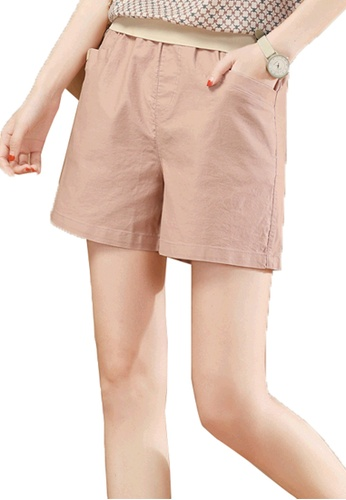 A-IN GIRLS 粉紅色 鬆緊腰百搭短褲 C5E72AA5ECC11BGS_1