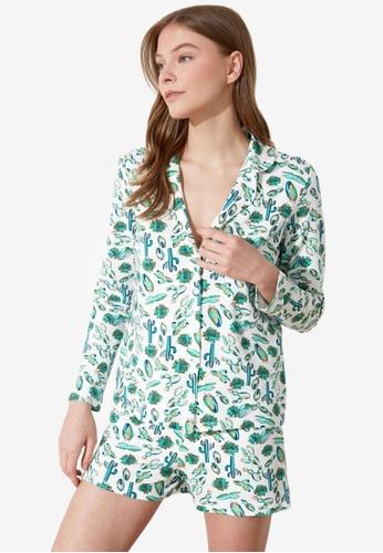 Trendyol 綠色 Long Sleeve Pyjama Set A1893AAA13A9FEGS_1