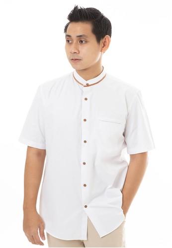 MANLY white MANLY Baju Koko Regular Fit Arbi White 9FFCFAA093B838GS_1