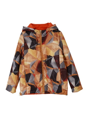 A-IN GIRLS multi Abstract Printed Double-Sided Thermal Jacket 6B11EAAD9C73A2GS_1