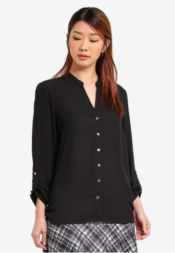 15a743a4669 Dorothy Perkins black Collarless Shirt DO816AA0SRCXMY 1