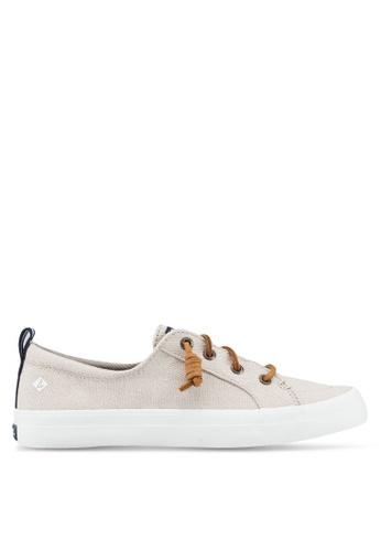 SPERRY beige Crest Vibe Linen Sneakers 6B8C9SH4D85AC0GS_1