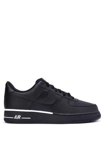 Nike black Men's Nike Air Force 1 '07 Shoes NI126SH0KPXJPH_1