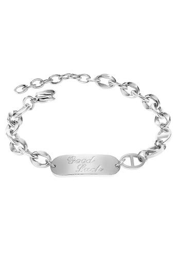 YOUNIQ silver YOUNIQ ALYA Good Luck Silver Friendship BFF Titanium Steel Bracelet 286A3AC04CA2EFGS_1