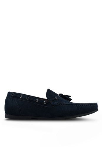 Brave Soul navy Corbett Suede Loafer with Tassel 99FCASH7805AE8GS_1