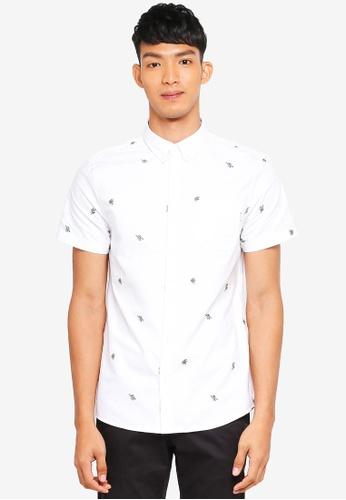 Jack Wills 白色 短袖印花襯衫 176F7AA0B7F27DGS_1
