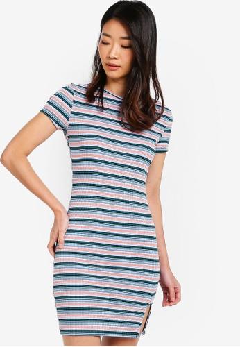 Something Borrowed multi Mini Dress With Slit Details 1652DAA11F9FB0GS_1