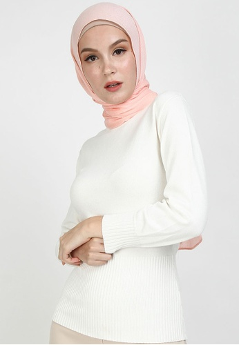 POPLOOK pink Aida Viscose Headscarf 96539AAB9D6067GS_1