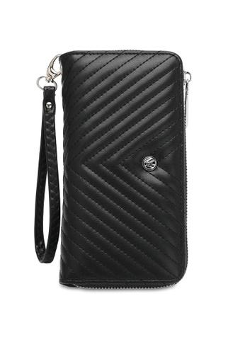 Volkswagen black Faux Leather Long Wallet 57F10AC0CFBA92GS_1
