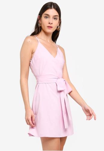 ZALORA 粉紅色 Overlap Tank Dress 3D994AAB9E2089GS_1