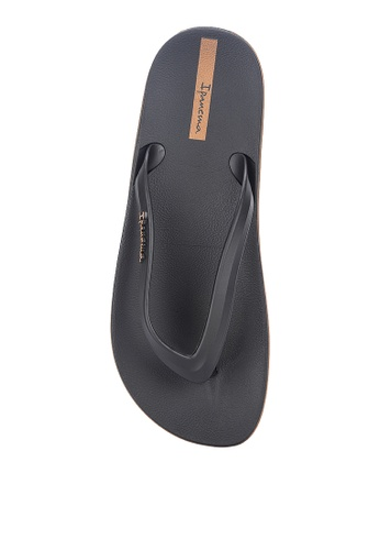 Ipanema black and brown Anatomic Lapa Ad Flip Flops 7C42DSHD5DB573GS_1