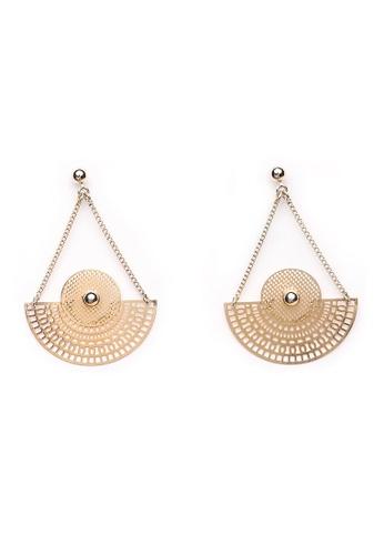 Gung Jewellery gold Tara Triangular Earrings in Gold DAF0AAC16C64B6GS_1