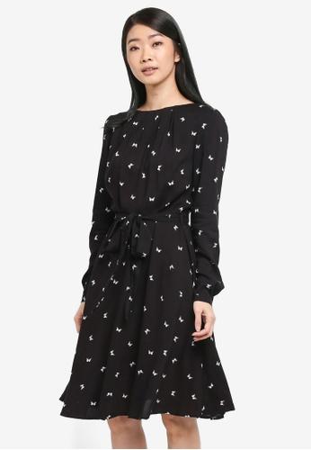 Dorothy Perkins black Black Butterfly Dress A31D8AA8739328GS_1