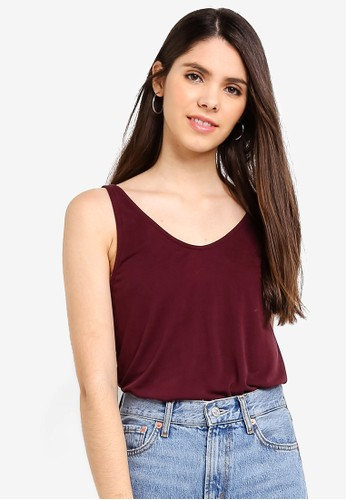 Cotton On red Tia Scooped High Low Tank Top 09E07AA0340979GS_1