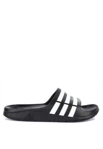 adidas black and white adidas duramo slide 632ADSH76D61FEGS_1