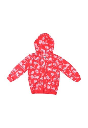 LC Waikiki orange Baby Boy?s Printed Zip-down Hoodie 14AA8KA7D1E3CFGS_1
