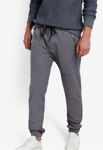 Cotton On grey Customised Drake Cuffed Pants CO372AA82IGJMY_1