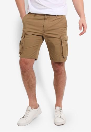 MANGO Man beige Cargo Pockets Bermuda Shorts 47D8EAA543AA16GS_1