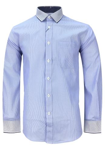 Pacolino blue Casual-Smart Long Sleeves Shirt PA995AA52CPFMY_1