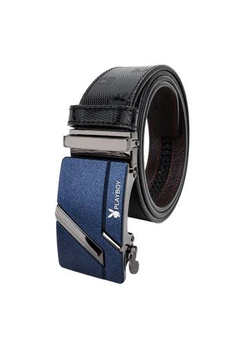 Playboy black Playboy 35mm Automatic Bukle Belt B1E29AC14E8429GS_1