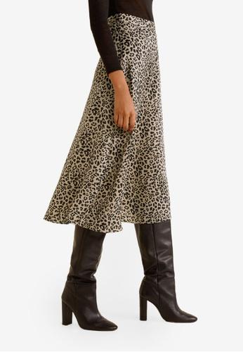 Mango black Leopard Skirt 9B3A0AAD861D31GS_1