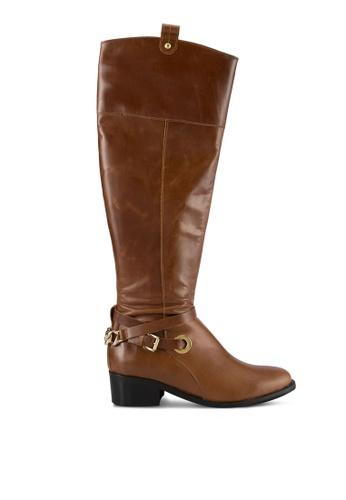 Carvela KG brown Tan Leather Boots CA459SH0SCKTMY_1