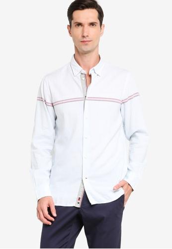 Tommy Hilfiger 白色 Wcc Engineered 條紋襯衫 78E7BAA8E1B992GS_1