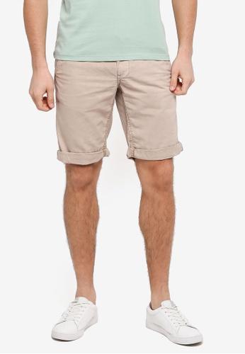 ESPRIT 米褐色 休閒短褲 2A6EEAA7406101GS_1