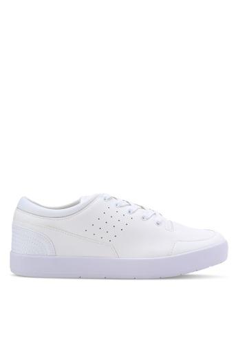 ZALORA white Essential Faux Leather Sneakers E7F54SH0E80AAEGS_1