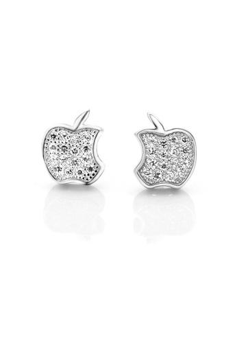 OUXI silver OUXI Apple Earrings OU821AC31DNGMY_1