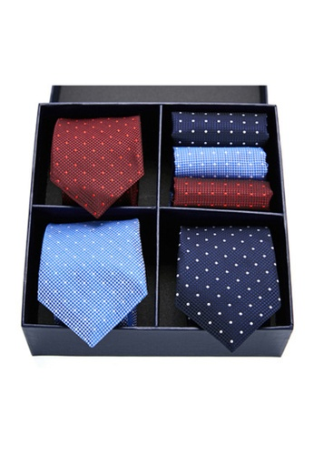 Kings Collection blue Tie, Pocket Square 6 Pieces Gift Set (KCBT2134) AC6B6AC93D1D1BGS_1