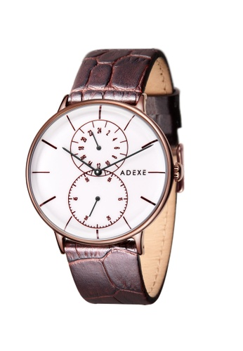 ADEXE Watches brown ADEXE Watches Foresser Men Leather C67C8ACAFFE7ADGS_1