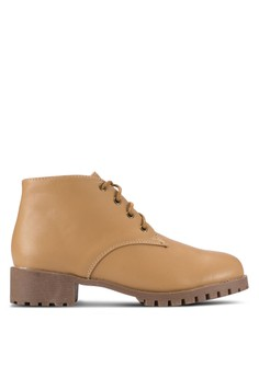 4鞋帶孔 Chukka 厚底靴