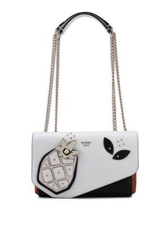 Guess white Fruit Punch Crossbody Flap Bag 02BE6AC386FFCDGS_1