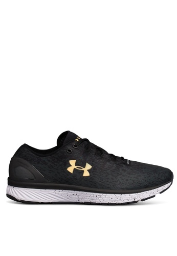Under Armour black and yellow UA Charged Bandit 3 Ombre Shoes UN337SH0SUA0MY_1