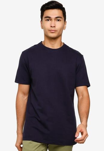 UniqTee navy Short Sleeve T-Shirt 24592AA335DBBEGS_1