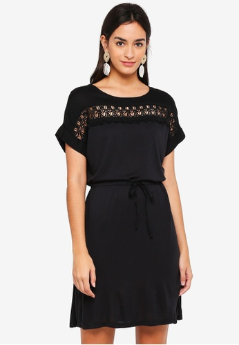 Vero Moda black Elin Mix Dress 1EF2CAA2FE2F0CGS_1