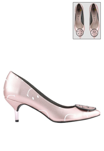 House of Avenues pink Smiley World Emotion Pointed Heels HO685SH0RRAAMY_1