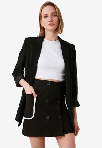 Trendyol black Pocket Detail Corduroy Mini Skirt 3DD4FAA8EDDA01GS_1