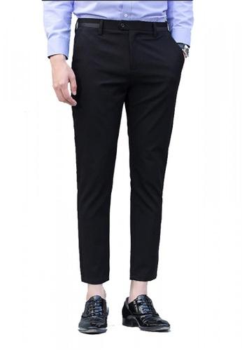 hk-ehunter black Middle Waist Ankle-length Pants Men Trousers  FF297AA3250993GS_1