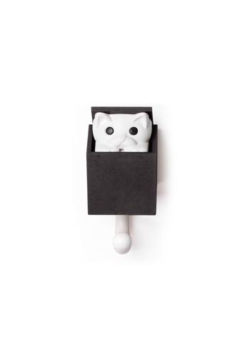 Qualy Qualy Kitt-a-Boo Wall Hook (Black) 45BFCHL08B53A8GS_1