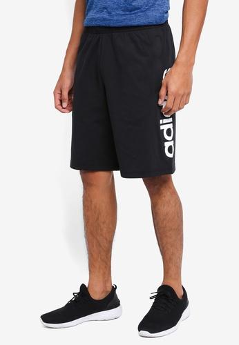 adidas 黑色 and 白色 adidas ess line 運動短褲 DBCCCAAC431A0AGS_1