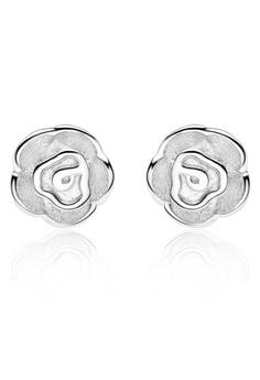 玫瑰花造型耳釘