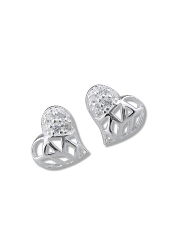 SC Tom Silver silver Heart Stud Stone Earrings-TESS034 SC872AC11ONSPH_1
