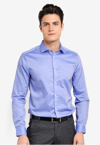 Burton Menswear London blue Bright Blue Slim Fit Smart Shirt 73EC9AA2C79319GS_1