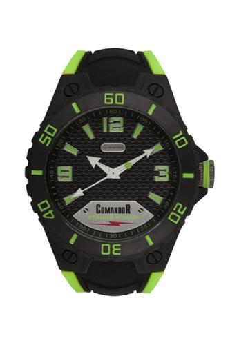 Sk Time Watch Shop green Comandor C147-1-13-13 Water Resistant Sport Watch DD4B8AC2791C57GS_1