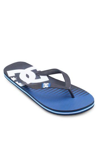 印花文esprit地址字夾腳拖, 鞋, 鞋